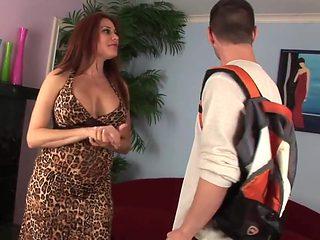 Amazing milf with big tits fucked