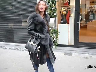 Sexy Exhibitionist And Fur Coat