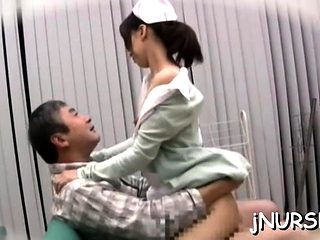 Hot nurse gets tits licked and fucked in lots of poses