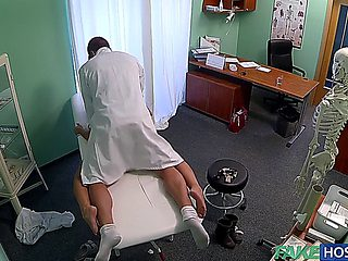 F.h - Cute Young Blonde Still Dizzy After Doctor Cums In Her