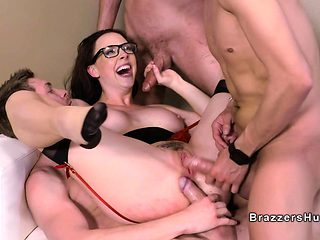 Students banging big tits professor