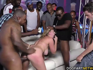 Brooke Wylde Used By A Gang Of Black Dicks