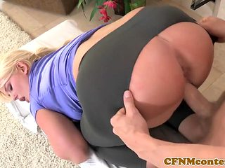 Housewives exam cocks before pounding