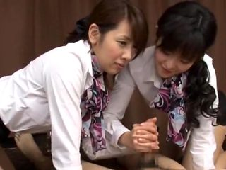 Amazing Japanese girl Reon Otowa, Hiyori Wakaba, Eri Ouka in Horny Handjobs, Threesomes JAV movie