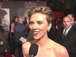 Scarlett Johansson   Cleavage At Avengers Premiere