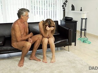 DADDY4K. Cutie looks hot in wet swimsuit so why old man want