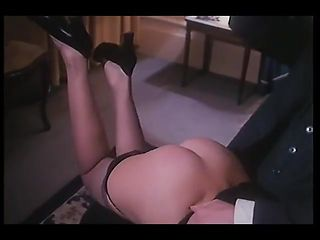 Vintage spanking leads to 3 way