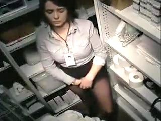Busty secretary goes in the back for a series of pussy fingering scenes