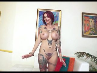 Busty Tattooed Slut ABP Sloppy Deepthroat