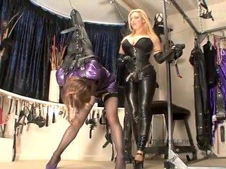 Amazing amateur shemale scene with BDSM, Latex scenes