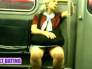 Milf on bus Marlys from dates25com
