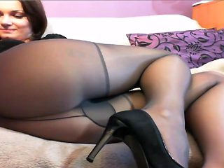 Pantyhose Suzz in heels