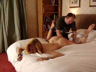 Spread legs for spanking