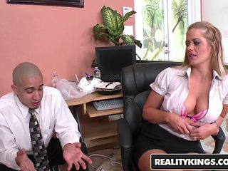 RealityKings - Big Tits Boss - Bruno Dickenz Holly Heart Big Tits Boss Holly - Bossy Boobs