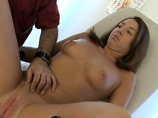 Horny doctor is pleasing his wicked patient, in the office