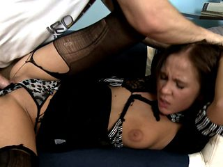 Becky gets roughed up by her brother