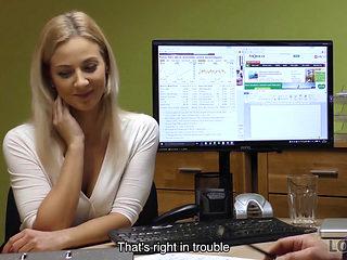 Loan4k. Rough Loan Agent Fucks Teen Blonde For Her Law...