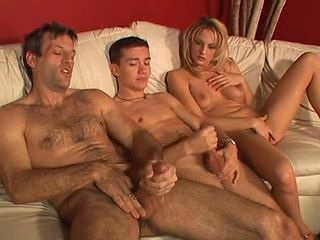 Hot Bisexual Threesome with a Strapon