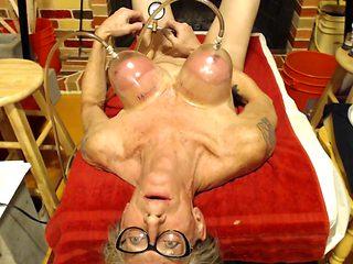 Tit and nipples pumped an orgasm