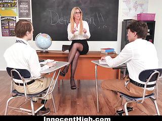 Innocenthigh - Teacher Fucks Students In Detention