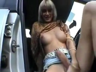 Crazy amateur shemale clip with Big Dick, Outdoor scenes