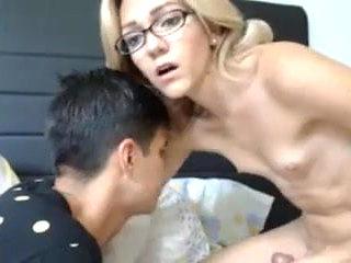 Hard cock shemale cum