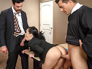 Kristina gets her pussy and booty enough pounding