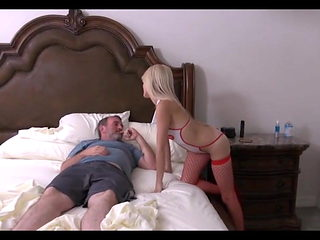 Daughter Nurse taking care of Father
