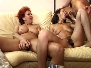 Exotic homemade Threesomes, Mature sex clip