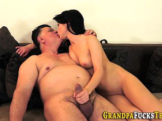Teen takes cum from rod