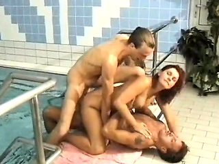Anal Penetration with Busty DP Threesome Hoes