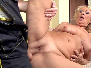 Blonde is extremely horny in this hardcore scene featuring her getting drilled