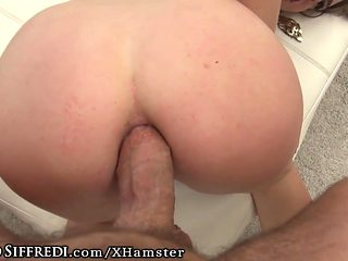Tight Babe Takes Rocco Siffredis Big Dick to Stretch Asshole
