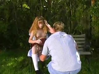 young teen Molly Rome fucked outdoors