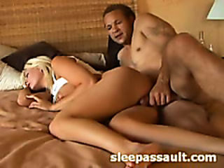 Pretty babe is fucked while she is sleeping