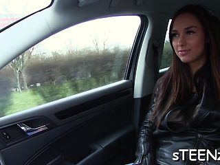 Inimitable snatch plowing in a perverted car sex session