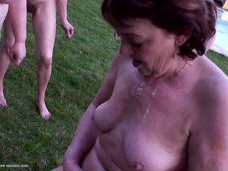 Mature gangbang with pee and without limits
