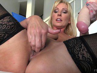 Amazing pornstar in Horny Masturbation, Stockings xxx scene