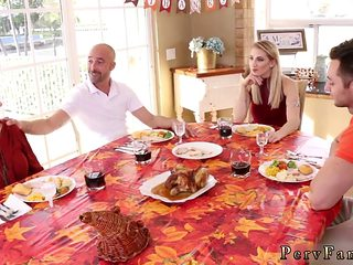 Spanked And Fucked By Daddy Mom Patrons Daughter Dildo Spanksgiving With The Family