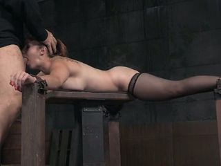 Kinky white milf is happy for brutal deepthroat action