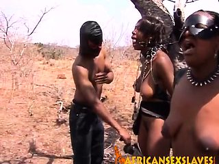 Huge titted ebony slaves are doing what they have been