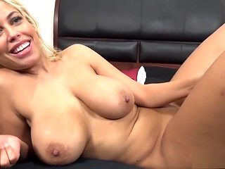 Big breasted blonde Bridgette has a black stud drilling her fiery cunt