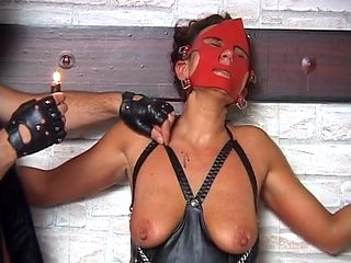 Masked slave slut