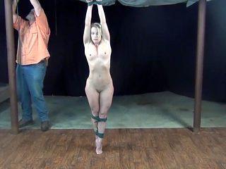 Naked Fit MILF Strung Up