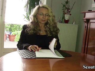 GERMAN BIG NATURAL TITS MILF seduce to FUCK by Neigbor