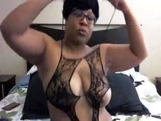 Busty Black Mommy Pounds Squirty Pussy