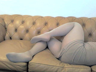 seamless pantyhose couch play