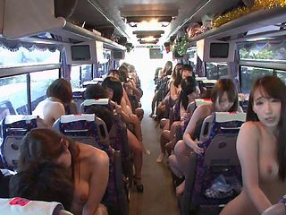 Japanese sluts on a bus riding the cocks of random strangers