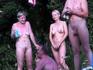 Cute saggy nudist