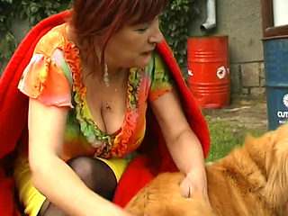 Hungarian Granny Loves Getting Fucked Outdoors
